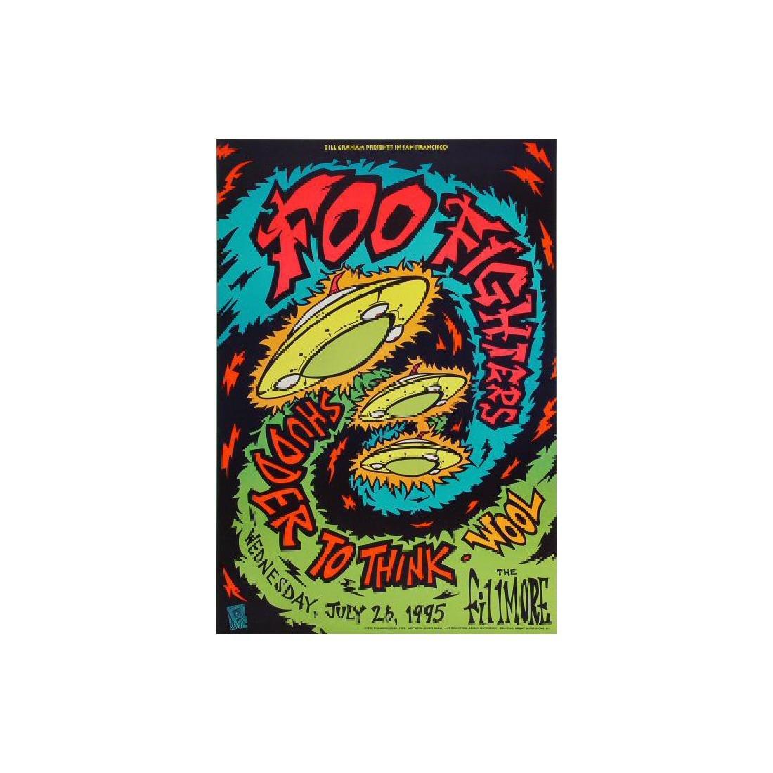 Foo Fighters - 1995 Concert Poster