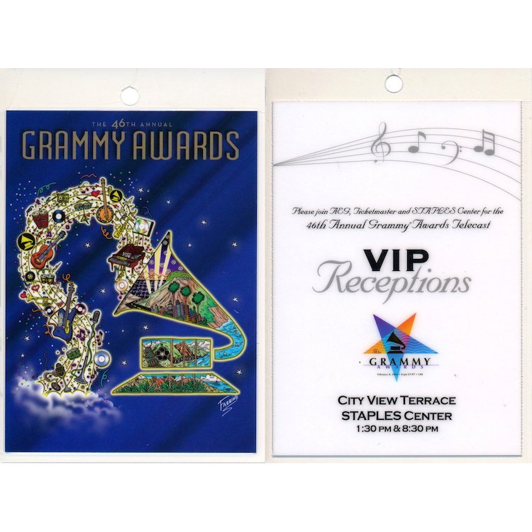 Grammy Awards - 2004 Laminated Backstage Passes