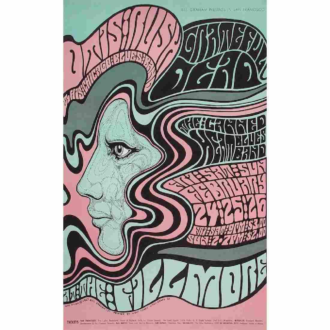Grateful Dead - 1967 Fillmore Concert Poster