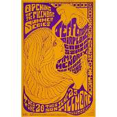 Jefferson Airplane  Jimi Hendrix  1967 Concert Poster