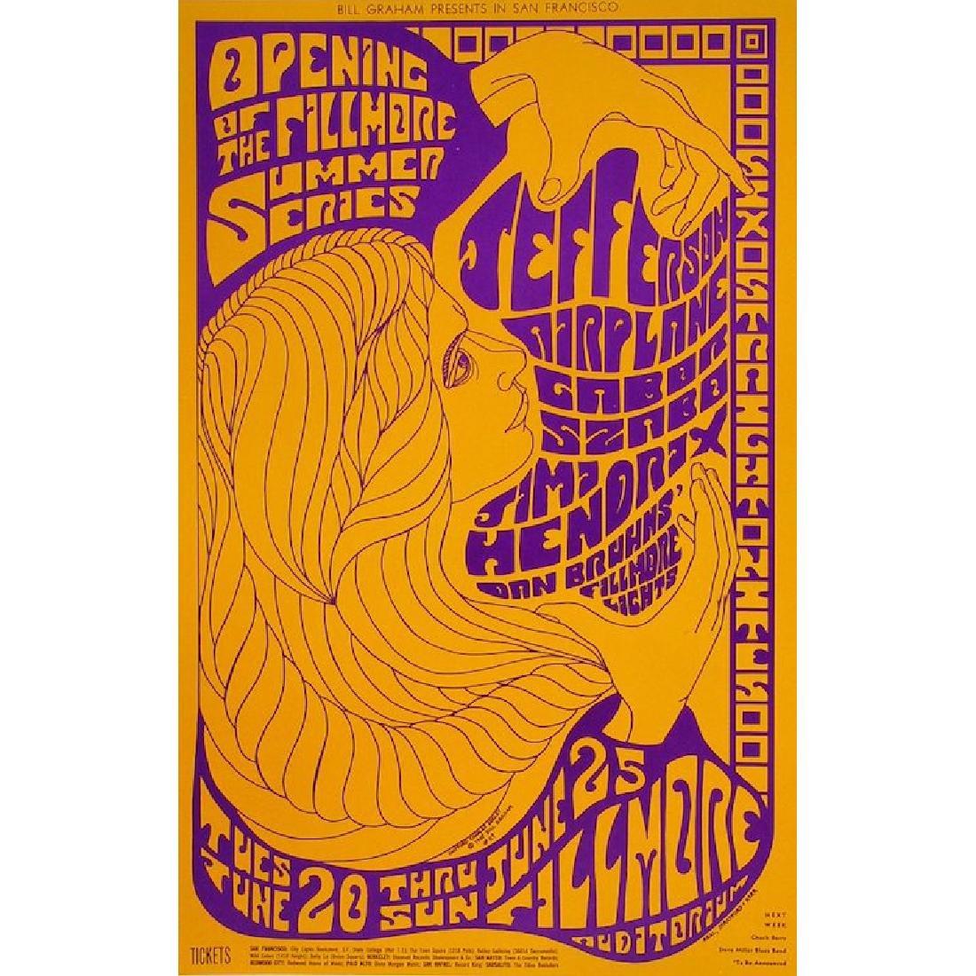 Jefferson Airplane - Jimi Hendrix - 1967 Concert Poster
