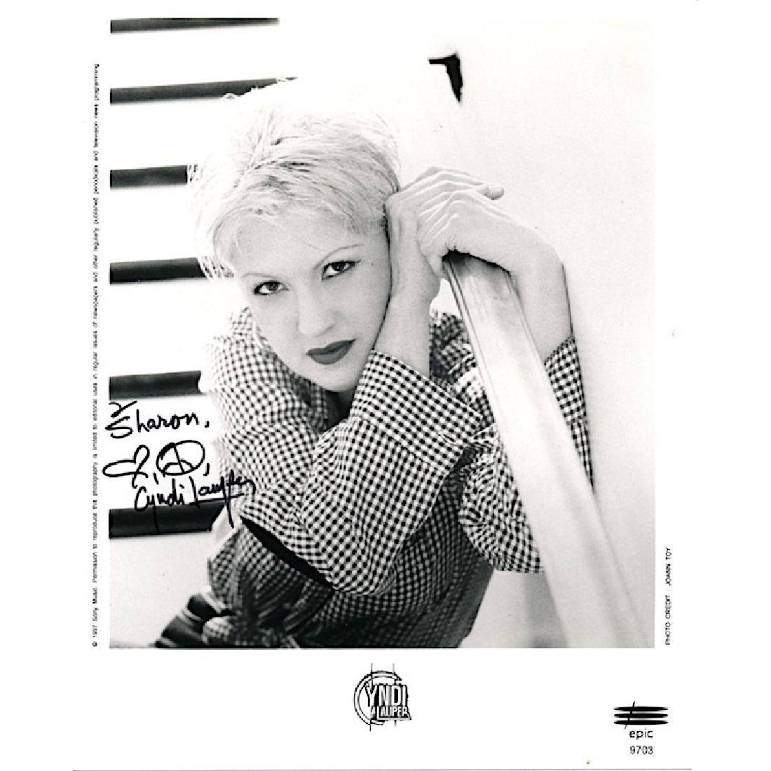 Cyndi Lauper Autographed Photograph
