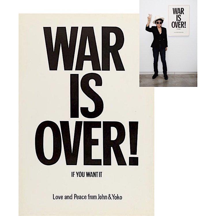 John Lennon & Yoko Ono - War Is Over! - 1970 Poster