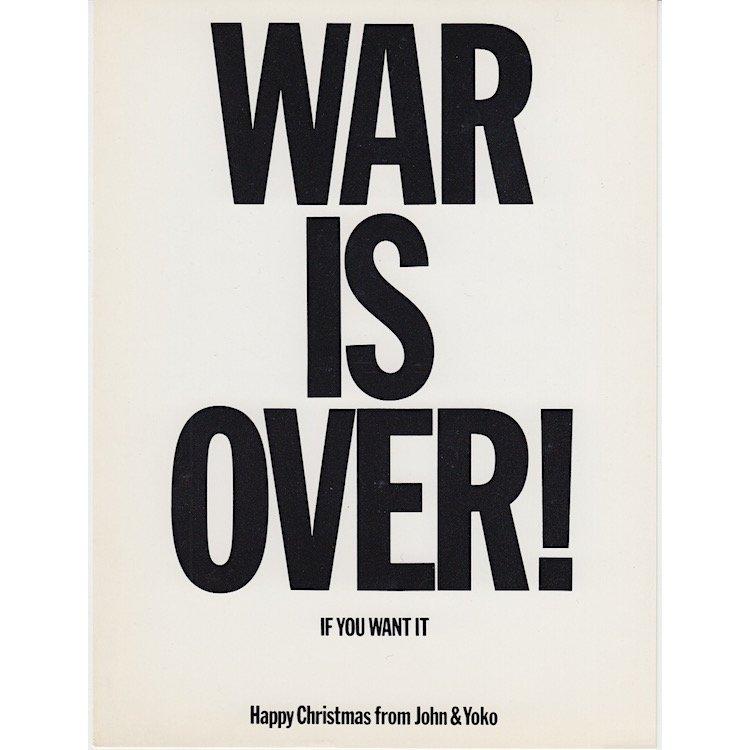 John Lennon & Yoko Ono - War Is Over! - 1970 Postcard