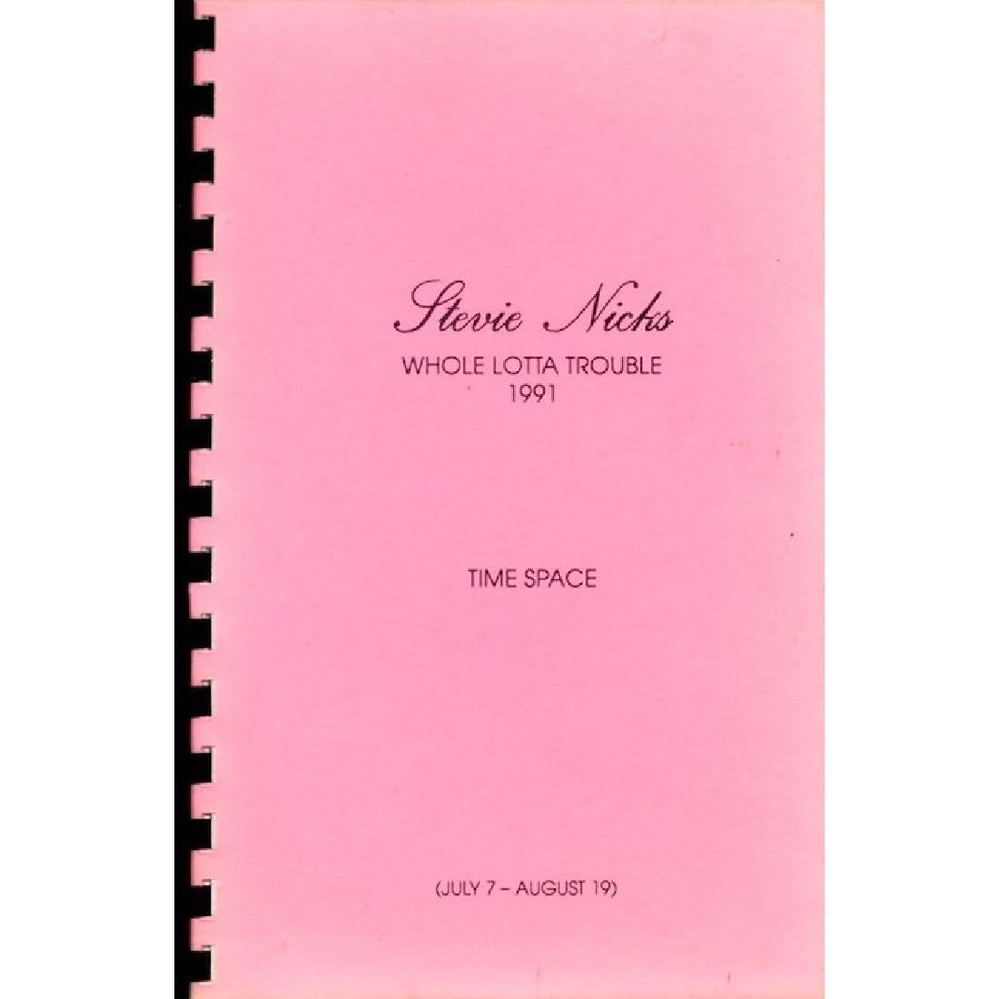 Stevie Nicks - Whole Lotta Trouble - Itinerary Book