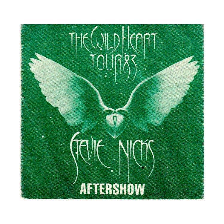 Stevie Nicks - The Wid Heart Tour - 1983 Backstage Pass