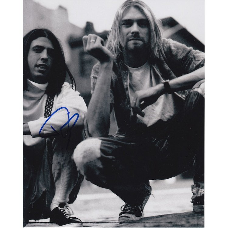Nirvana - Dave Grohl - Autographed Photograph