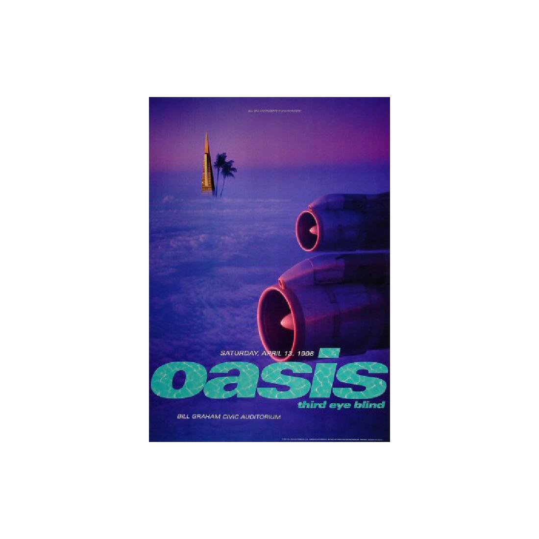 Oasis - 1996 Concert Poster