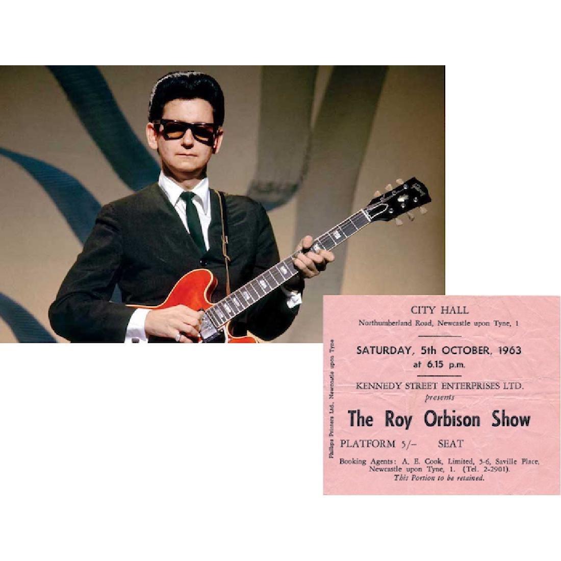 Roy Orbison - 1963 Vintage Concert Ticket