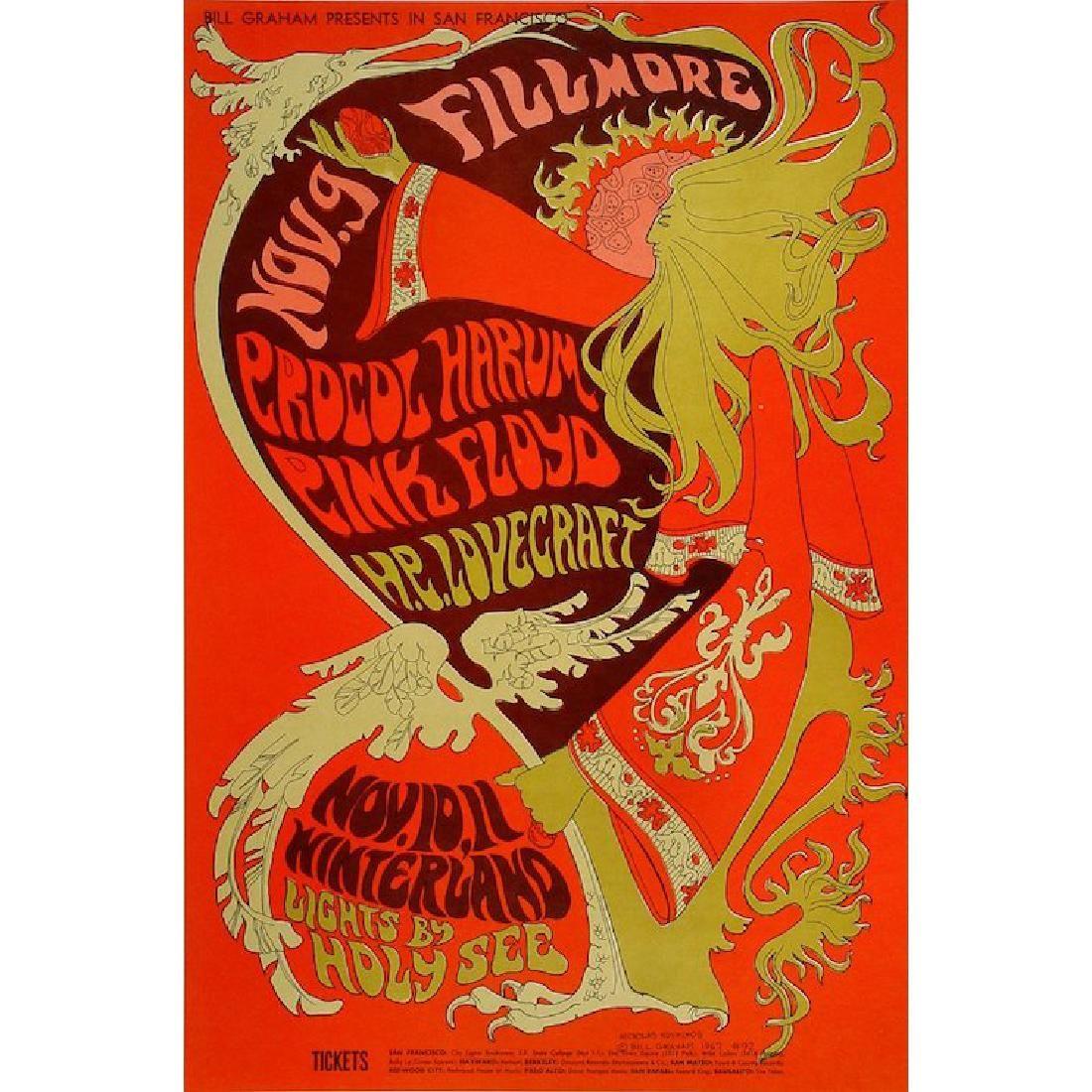 Pink Floyd - Procol Harum - 1967 Concert Poster