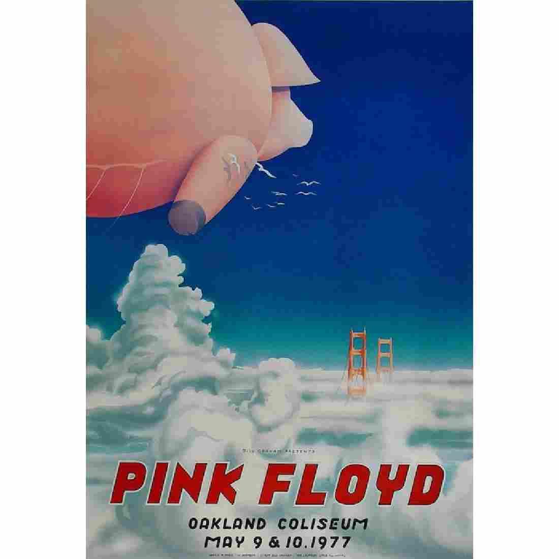 Pink Floyd - 1977 Oakland Concert Poster