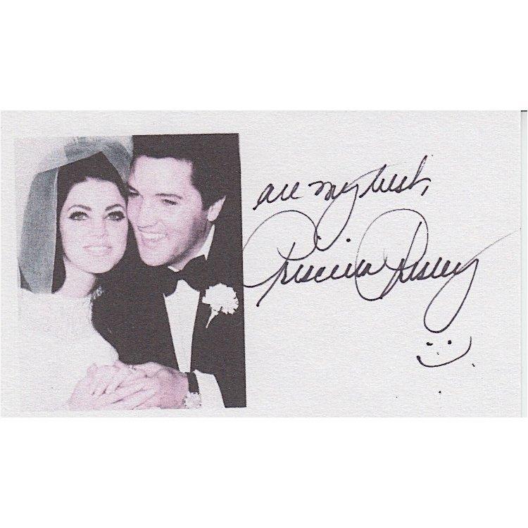 Priscilla Presley Autographed Card