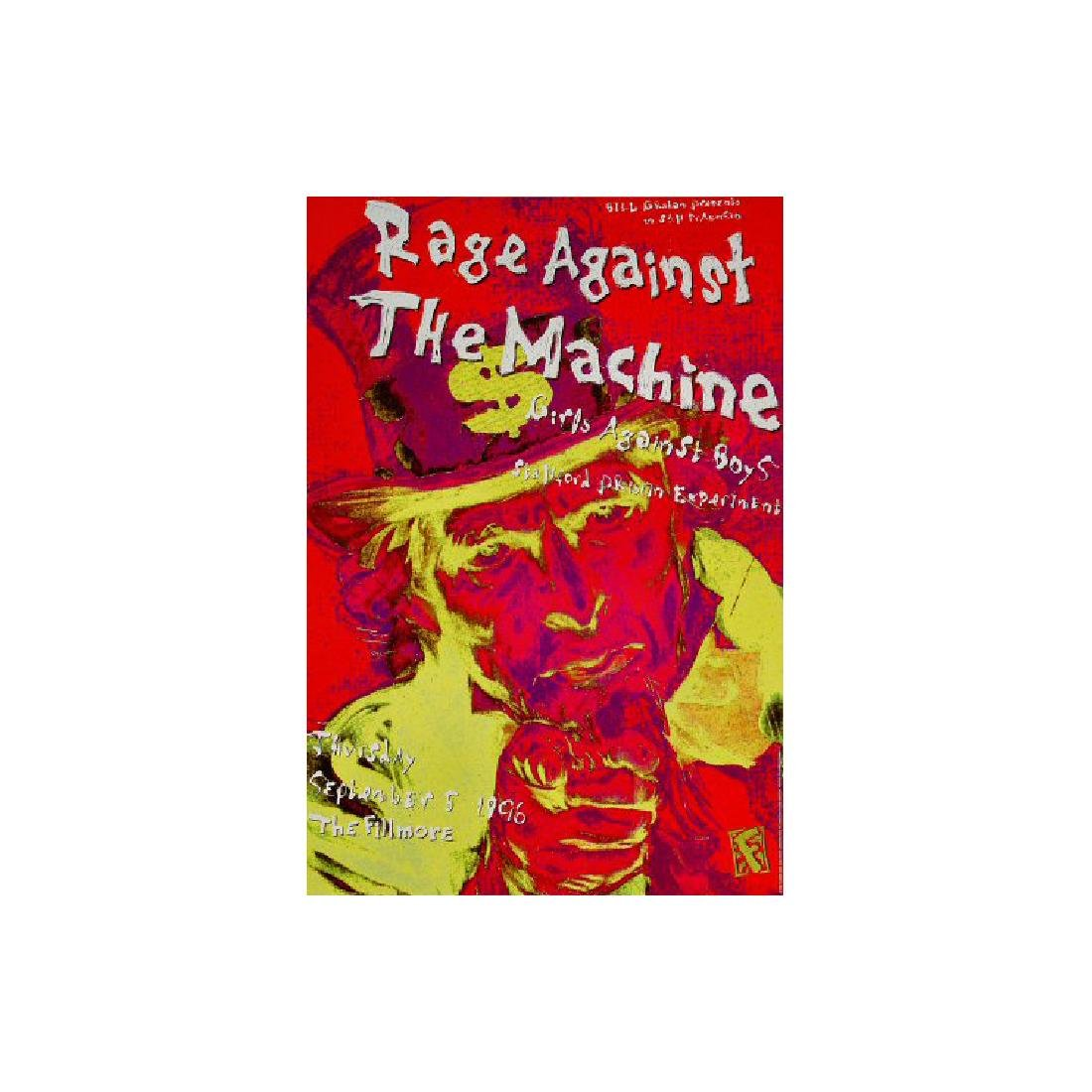 Rage Against the Machine - 1996 Concert Poster