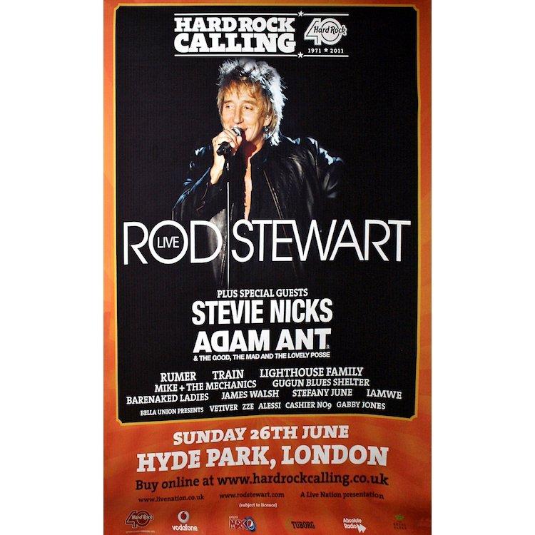 Rod Stewart - 2011 Hard Rock Calling Concert Poster