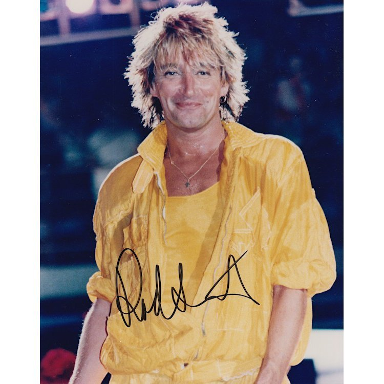 Rod Stewart Autographed Photograph