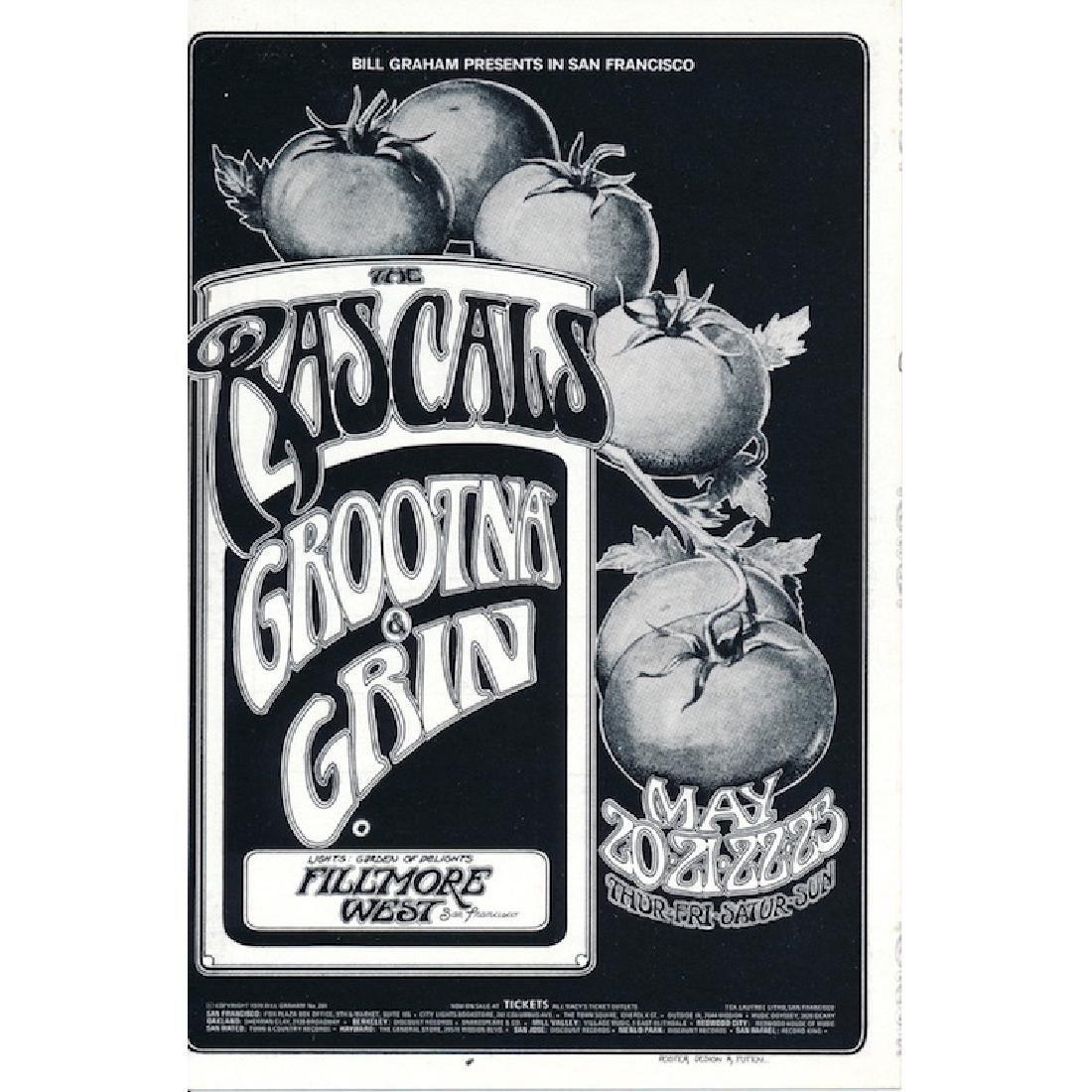 The Rascals - 1971 Fillmore Concert Handbill