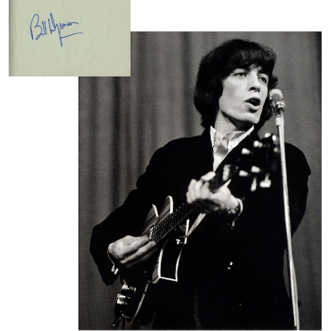 The Rolling Stones - Bill Wyman - Autograph