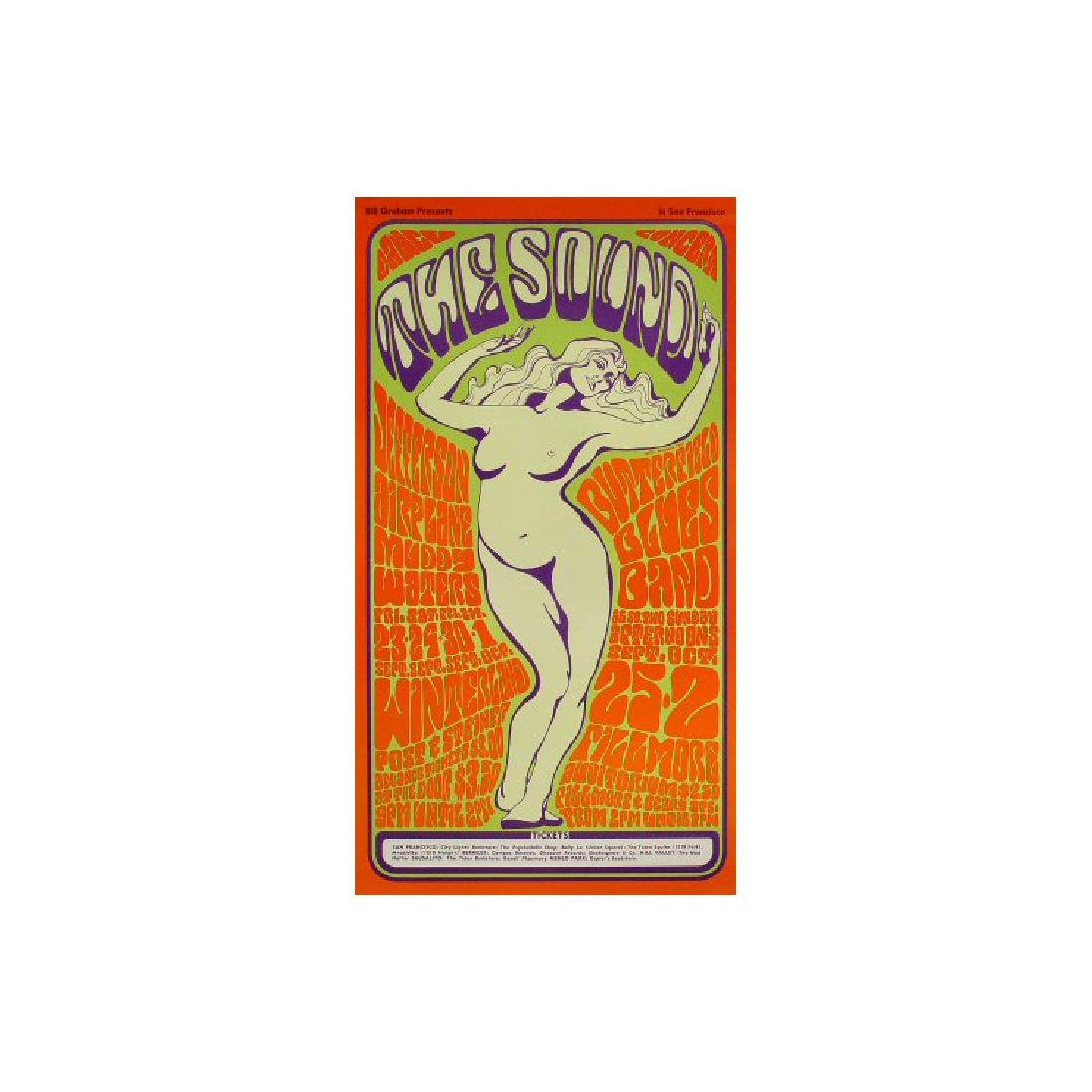 The Sound - Jefferson Airplane - 1966 Concert Poster