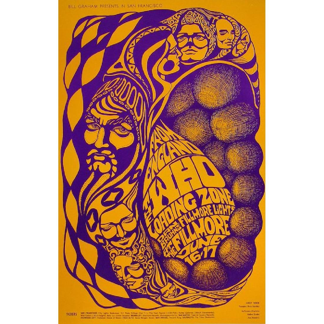 The Who - 1967 Fillmore Concert Poster