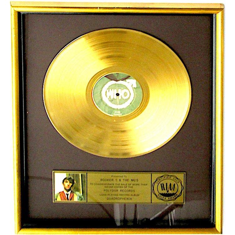 The Who - Certified RIAA Record Award