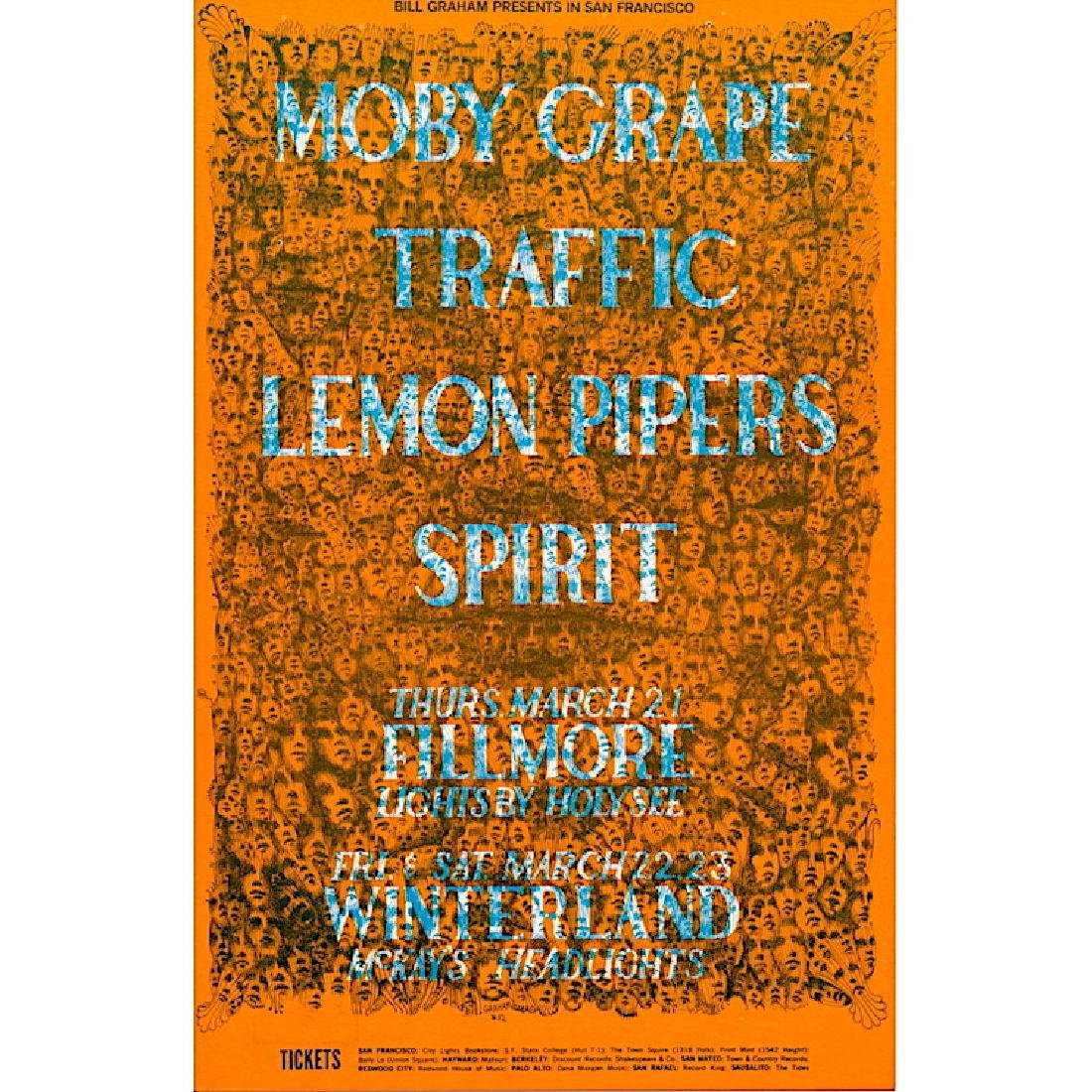 Traffic - Moby Grape - 1968 Fillmore Handbill