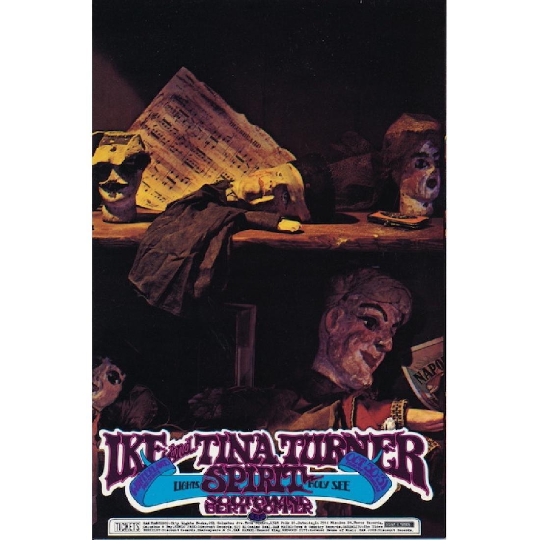 Ike & Tina Turner  - 1970 Concert Handbill