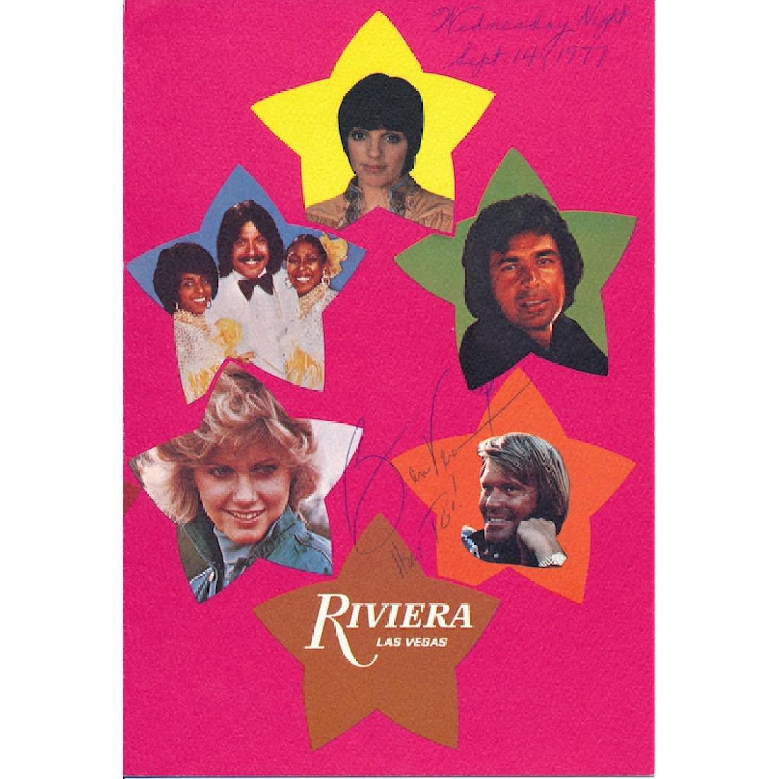 Ben Vereen Autographed Riveria Hotel Dinner Program