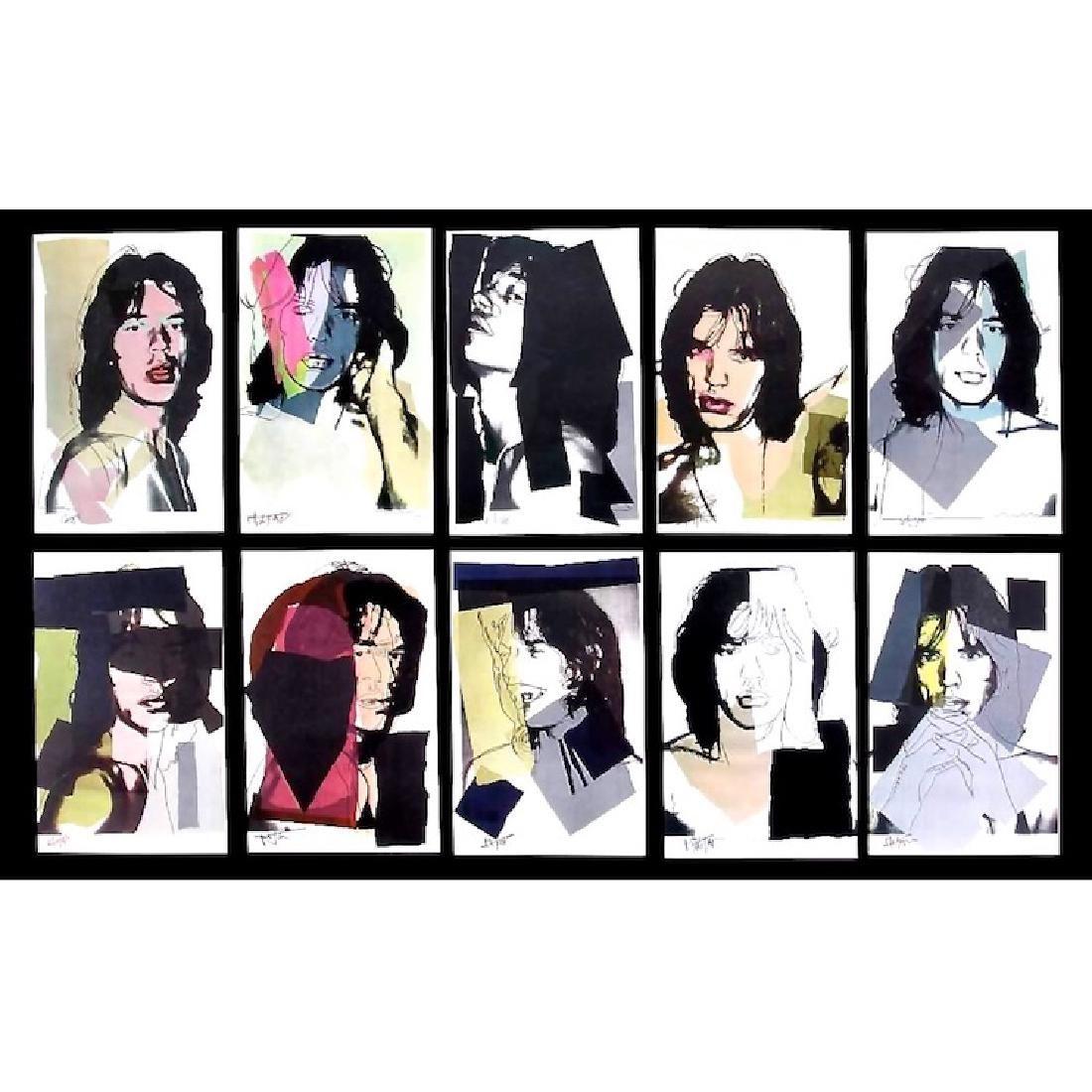 Andy Warhol - Mick Jagger - Postcard Suite