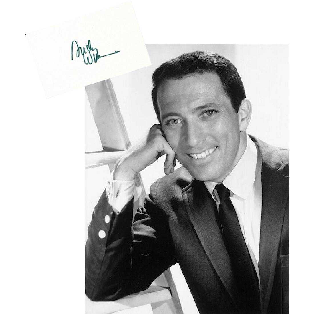 Andy Williams Autograph