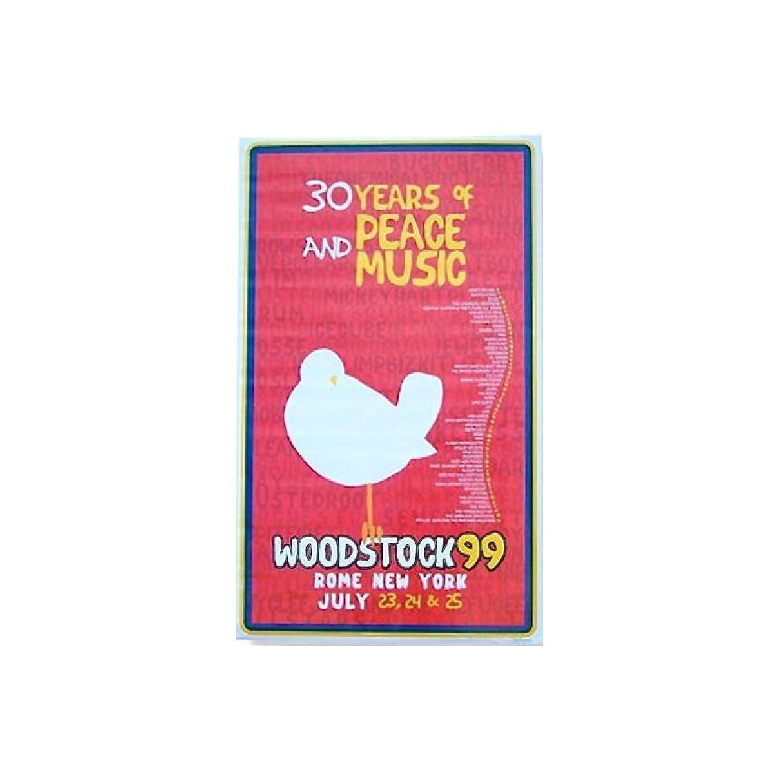 Woodstock Music Festival - 1999 Concert Poster