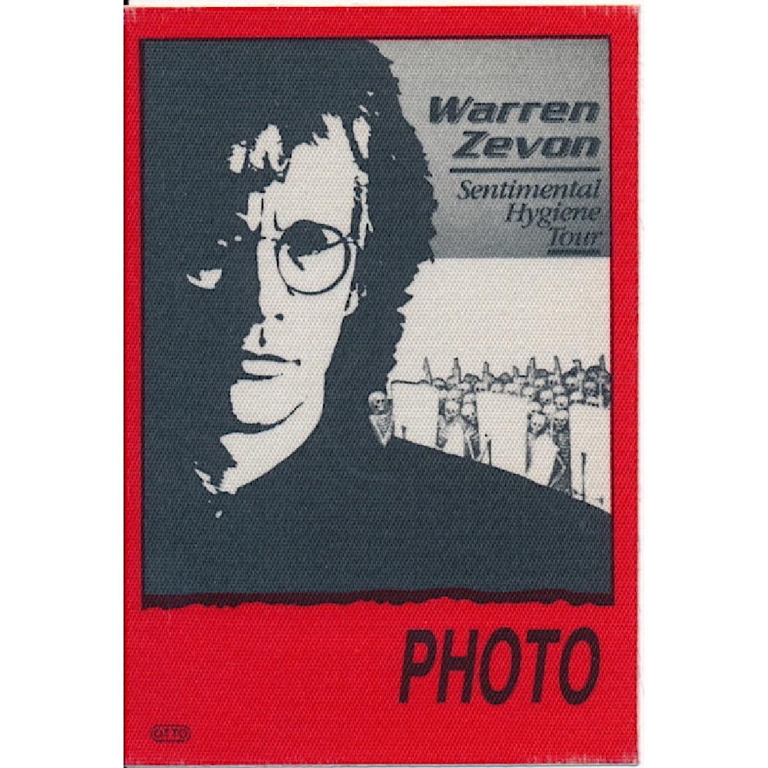 Warren Zevon - 1987 Backstage Pass
