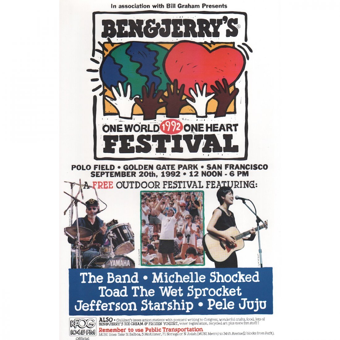 The Band - 1992 Concert Poster