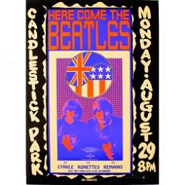 The Beatles - Candlestick Park - 1966 Concert Poster