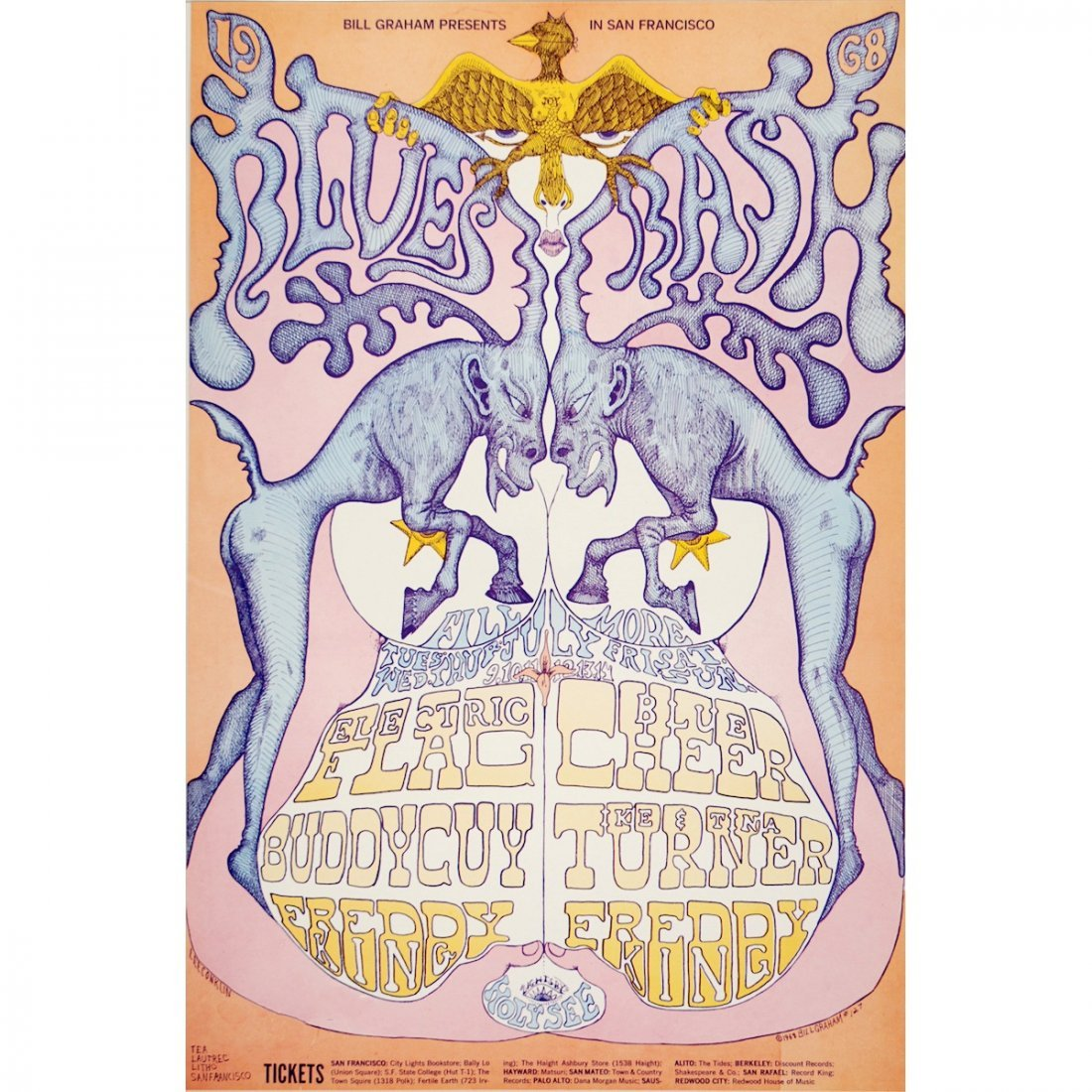Blue Cheer - Buddy Guy - 1968 Concert Poster