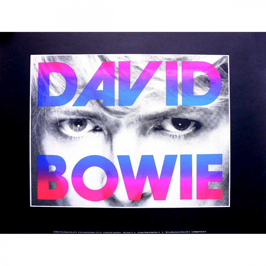 David Bowie - 1987 Promotional Poster