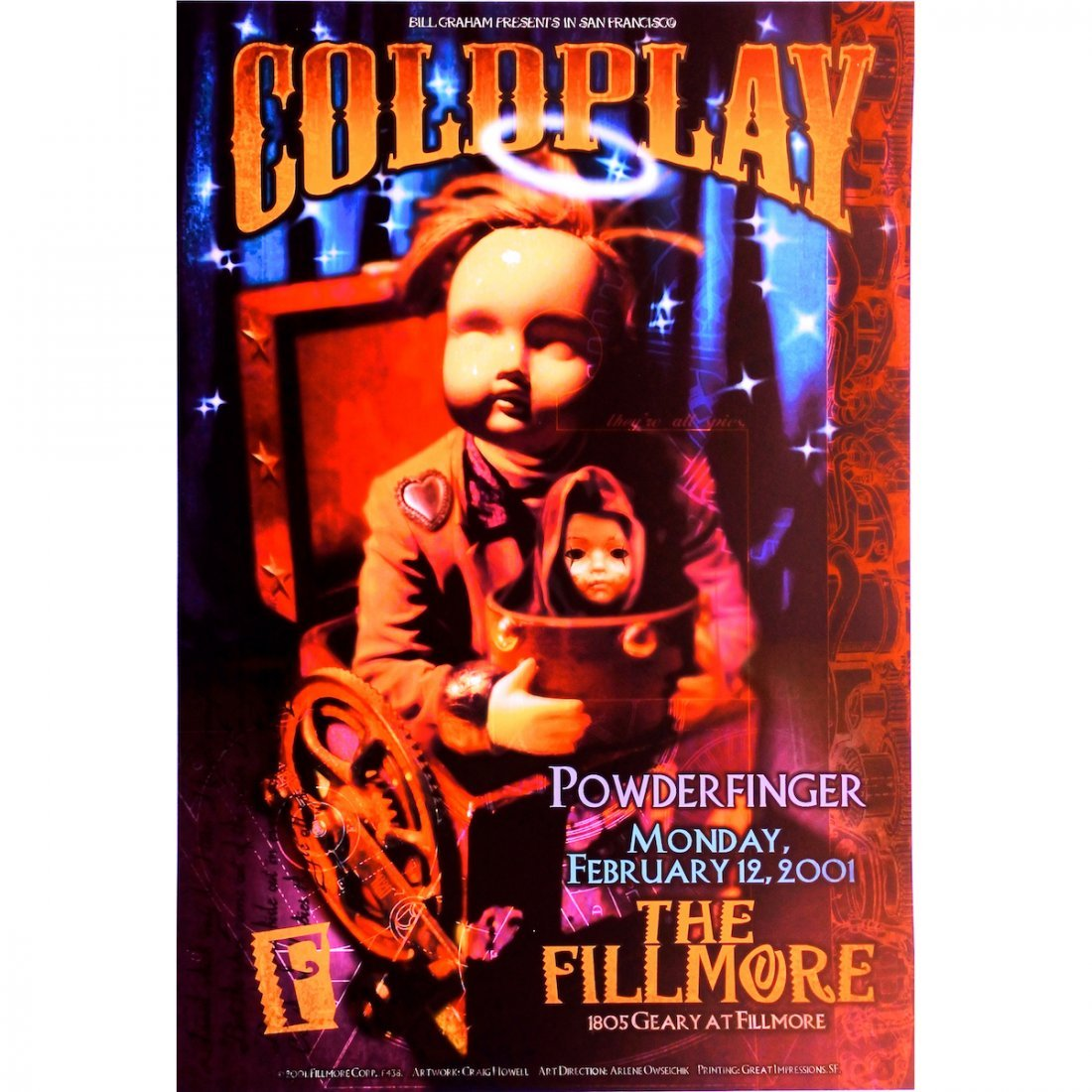 Coldplay - 2001 Concert Poster