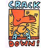 Crack Down  Keith Haring  1986 Concert Poster