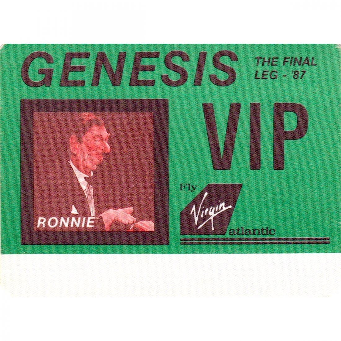 Genesis - 1987 Backstage Pass
