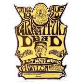 Grateful Dead  Alton Kelley  1966 Signed Concert