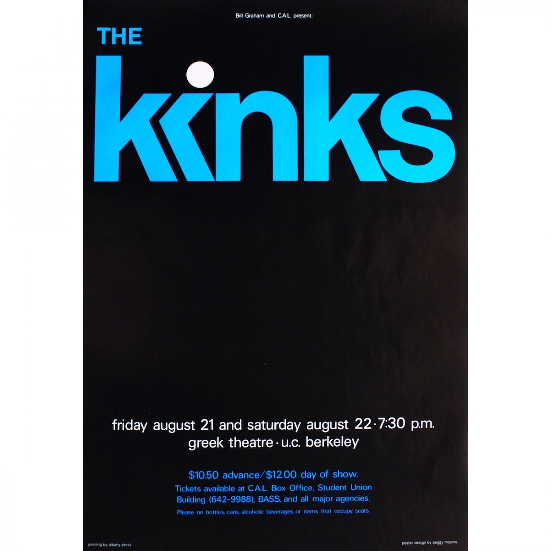 The Kinks - 1981 Concert Poster