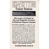 Led Zeppelin 1977 Vintage Concert Ticket Order Form