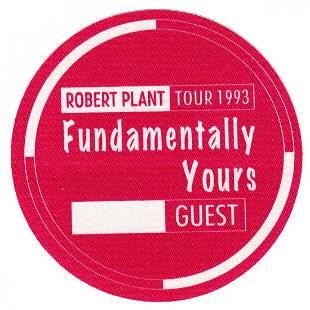 Led Zeppelin Robert Plant 1993 Backstage Pass