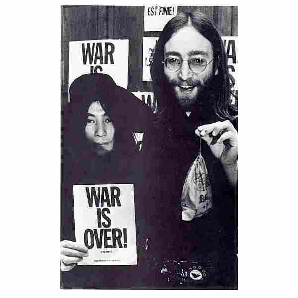 John Lennon & Yoko Ono - War Is Over! - Postcard