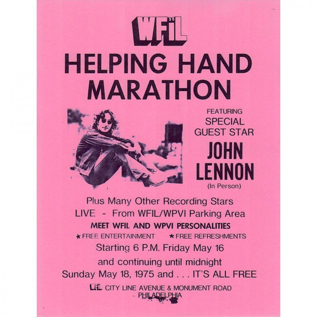 John Lennon - WFIL Helping Hand Marathon - 1975 Flyer