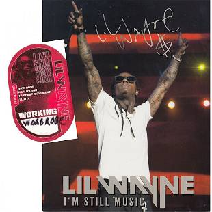 Lil Wayne I am Still Music Tour 2011 Backstage Pass