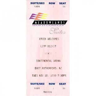 Limp Bizkit 1999 Vintage Concert Ticket