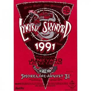 Lynyrd Skynyrd 1991 Concert Handbill