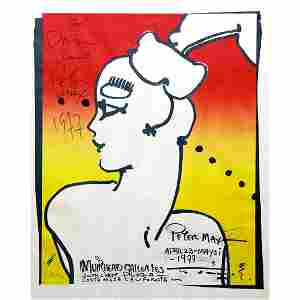 Peter Max - 1977 Signed Exhibit Poster