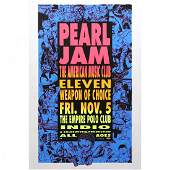 Pearl Jam  Empire Polo Club  1993 Concert Poster