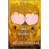Sly and the Family Stone  1968 Fillmore Poster